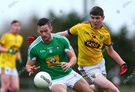 Stock Picture of Wexford vs Westmeath. Westmeath's Noel Mulligan with Wexford's Sean Forde