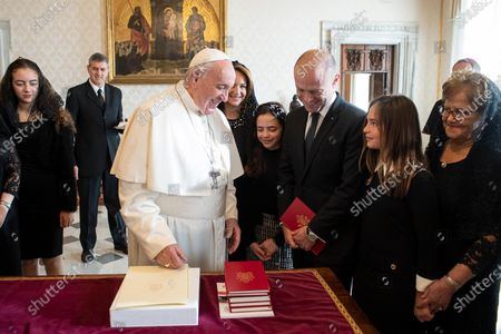 Editorial photo of Pope Francis receives Maltese Prime Minister Joseph Muscat, Vatican City, Vatican City State Holy See - 07 Dec 2019