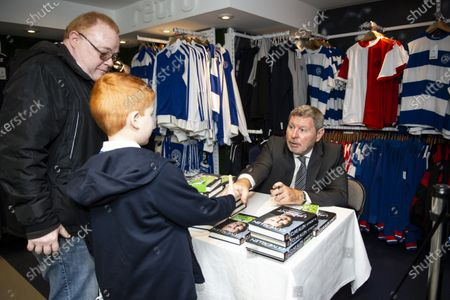 Commercial and marketing  Clive Allen book signing in the club shop