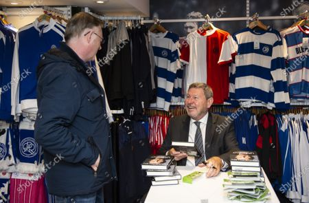 Stock Picture of Commercial and marketing  Clive Allen book signing in the club shop
