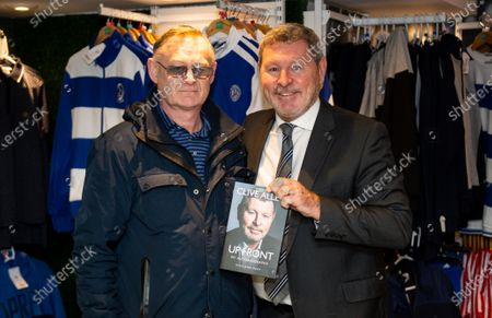 Stock Photo of Commercial and marketing  Clive Allen book signing in the club shop