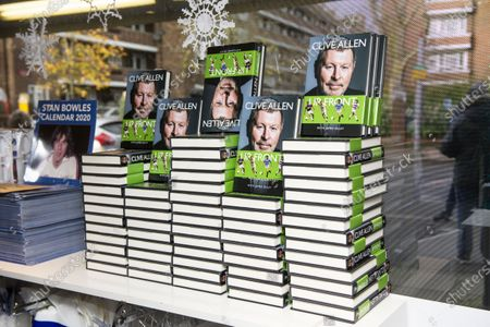 Stock Image of Commercial and marketing  Clive Allen book signing in the club shop