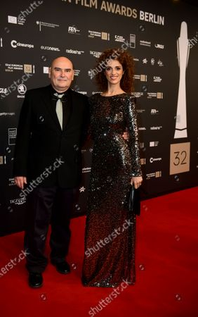 Antonio Saura (L), Deputy Chairman of the European Film Academy, and his wife Ruth Gabriel Sanchez Bueno arrive on the red carpet of the 32nd European Film Awards ceremony in Berlin, Germany, 07 December 2019.