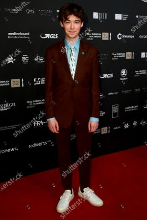 Alex Lawther, one of the presenters, poses on the red carpet of the 32nd European Film Awards ceremony in Berlin, Germany, 07 December 2019.