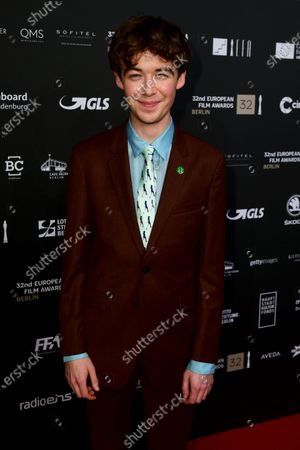 Stock Photo of Alex Lawther, one of the presenters, poses on the red carpet of the 32nd European Film Awards ceremony in Berlin, Germany, 07 December 2019.