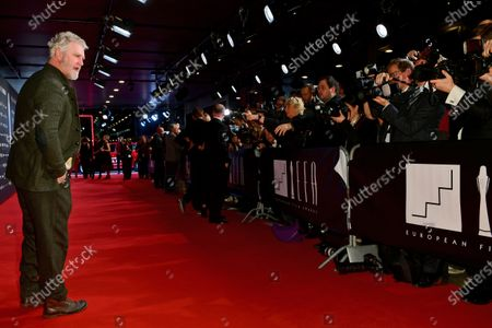 Detlev Buck (L) poses on the red carpet of the 32nd European Film Awards ceremony in Berlin, Germany, 07 December 2019.