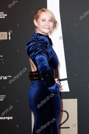 Stock Picture of Member of cast of the film 'Queen of Hearts', Danish actress Trine Dyrholm attends the red carpet of the 32nd European Film Awards ceremony in Berlin, Germany, 07 December 2019.