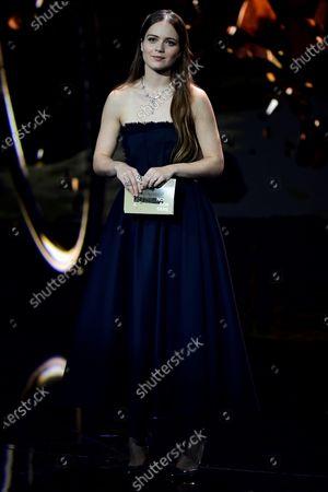 Icelandic actress Hera Hilmar attends the 32nd European Film Awards ceremony in Berlin, Germany, 07 December 2019.