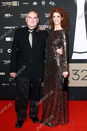 Deputy Chairman of the European Film Academy Antonio Saura (L) and his wife Ruth Gabriel Sanchez Bueno (R) attend the red carpet of the 32nd European Film Awards ceremony in Berlin, Germany, 07 December 2019.