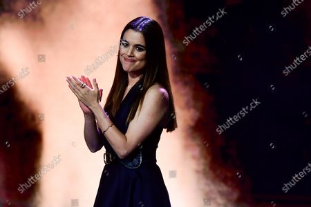 Spanish actress Adriana Ugarte reacts as she attends the 32nd European Film Awards ceremony in Berlin, Germany, 07 December 2019.