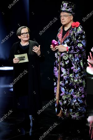 Stock Photo of Agnieszka Holland (L) and German director Rosa von Praunheim (R) attend the 32nd European Film Awards ceremony in Berlin, Germany, 07 December 2019.