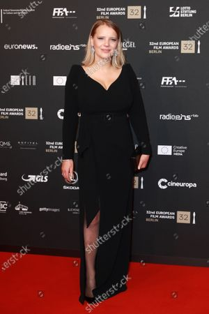 Joanna Kulig attends the red carpet of the 32nd European Film Awards ceremony in Berlin, Germany, 07 December 2019.