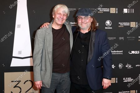 Andreas Dresen (L) attends the red carpet of the 32nd European Film Awards ceremony in Berlin, Germany, 07 December 2019.