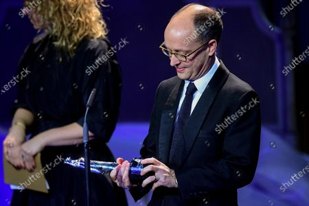 Ed Guiney receives the award for Best European Comedy and Best European film 'The Favourite' during the 32nd European Film Awards ceremony in Berlin, Germany, 07 December 2019.