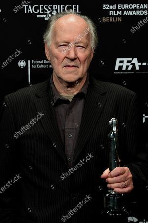 Werner Herzog poses during the 32nd European Film Awards ceremony in Berlin, Germany, 07 December 2019.