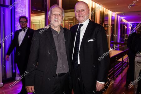 Werner Herzog (L) and his half-brother, the German film producer Lucki Stipetic (R), attend the after show party of the 32nd European Film Awards in Berlin, Germany, 07 December 2019.