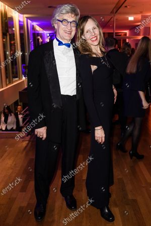 Stock Picture of Wim Wenders (L) and his wife, German photographer Donata Wenders (R), attend the after show party of the 32nd European Film Awards in Berlin, Germany, 07 December 2019.