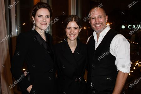 Fritzi Haberlandt (L), Liv Lisa Fries (C) and Benno Fuermann (R) attend the after show party of the 32nd European Film Awards in Berlin, Germany, 07 December 2019.