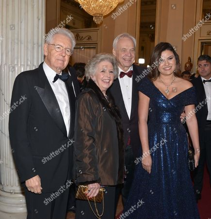 Mario Monti, Elsa Antonioli, Alexander Pereira and Daniela Weisser