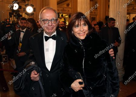 Former Italian Economy Minister Pier Carlo Padoan arrives for La Scala opera house's gala season opener, at the Giacomo Puccini opera 'Tosca', in Milan, Italy, 07 December 2019. The Scala opera house season opener is considered one of the highlights of the European cultural calendar.