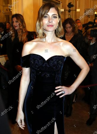 Vittoria Puccini attends La Scala opera house's gala season opener, Giacomo Puccini opera 'Tosca', in Milan, Italy, 07 December 2019. The Scala opera house season opener is considered one of the highlights of the European cultural calendar.
