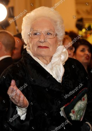 """Holocaust survivor Liliana Segre arrives for the gala premiere of La Scala opera house, in Milan, Italy,. Milan's storied La Scala opens its 2019-2020 season on Saturday with Puccini's """"Tosca,"""" which stars Russian soprano Anna Netrebko as the object of unwanted sexual attention from a powerful authority figure"""