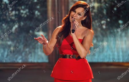 German singer Andrea Berg performs during the 'Ein Herz Fuer Kinder' (lit: A Heart for Children) gala show in Berlin, Germany, 07 December 2019. German television channel ZDF and newspaper 'Bild' collected donations for children's charity organizations in Germany and the whole world.