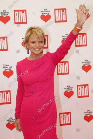 Uschi Glas poses for the media on the red carpet of the 'Ein Herz Fuer Kinder' (lit: A Heart for Children) gala show in Berlin, Germany, 07 December 2019. German television channel ZDF and newspaper 'Bild' with their charity even collect donations for children's charity organizations in Germany and the whole world.