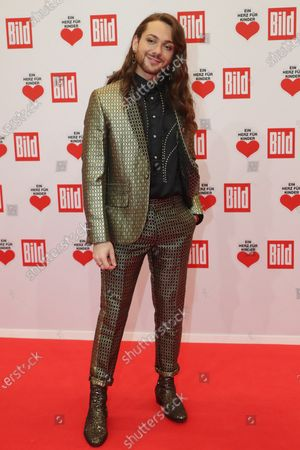 Riccardo Simonetti poses for the media on the red carpet of the 'Ein Herz Fuer Kinder' (lit: A Heart for Children) gala show in Berlin, Germany, 07 December 2019. German television channel ZDF and newspaper 'Bild' with their charity even collect donations for children's charity organizations in Germany and the whole world.