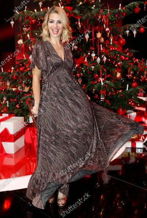 German TV actress Susan Sideropoulos poses after the Ein Herz Fuer Kinder Gala show in Berlin, Germany, 07 December 2019. German television channel ZDF and newspaper 'Bild' collected donations for children's charity organizations in Germany and globally.