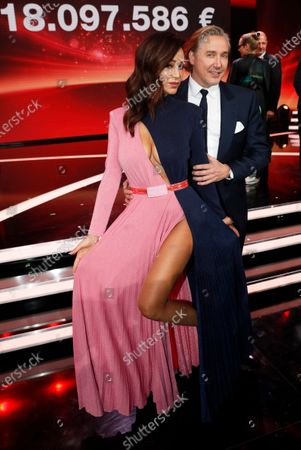 German TV personality Verona Pooth (L) and her husband Franjo (R) pose after the Ein Herz Fuer Kinder Gala show in Berlin, Germany, 07 December 2019. German television channel ZDF and newspaper 'Bild' collected donations for children's charity organizations in Germany and globally.
