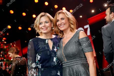 German entrepreneur Dagmar Woehrl (R) and German Minister for Agriculture Julia Kloeckner (L) pose after the Ein Herz Fuer Kinder Gala show in Berlin, Germany, 07 December 2019. German television channel ZDF and newspaper 'Bild' collected donations for children's charity organizations in Germany and globally.