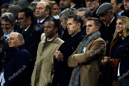 Stock Picture of NBA's former player Steve Nash (C) attends the Spanish LaLiga soccer match between FC Barcelona and RCD Mallorca at Camp Nou stadium in Barcelona, northeastern Spain, 07 December 2019.