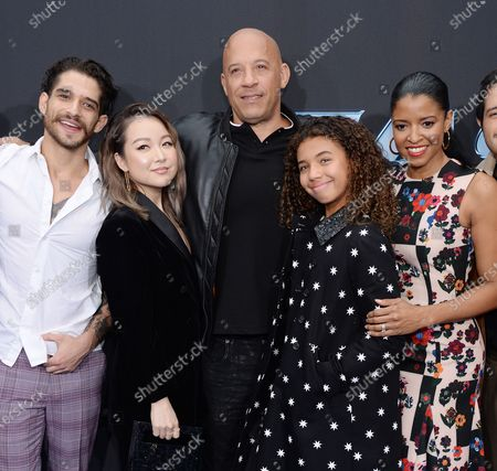 Tyler Posey, Charlet Chung, Vin Diesel and daughter Similce Diesel