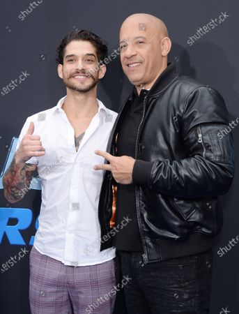 Tyler Posey and Vin Diesel