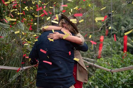 Kate Garraway is evicted from camp and is greeted by husband Derek Draper