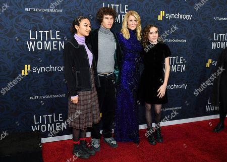 Ellery Harper, Laura Dern, Jaya Harper and guest