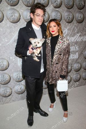 Stock Picture of Christopher French and Ashley Tisdale and dog Ziggy