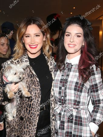 Ashley Tisdale, Shenae Grimes and dog Ziggy