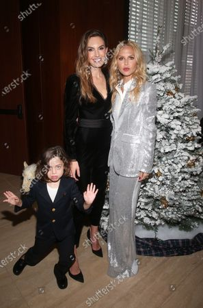 Stock Picture of Elizabeth Chambers, Rachel Zoe and Kaius Jagger Berman