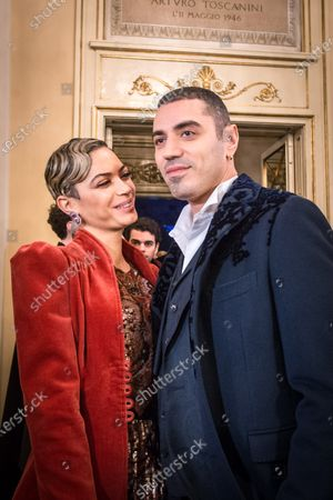 Stock Photo of Elodie Di Patrizi and Marracash