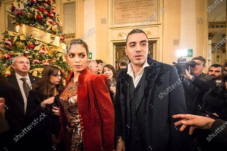 Elodie Di Patrizi and Marracash