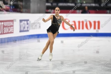 Alina Zagitova, from Russia, during Senior Ladies Free Program.