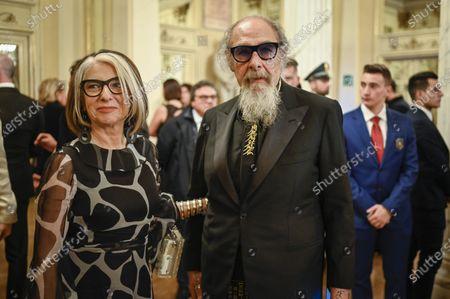 Anna Beatrice Federici and Roberto D'Agostino