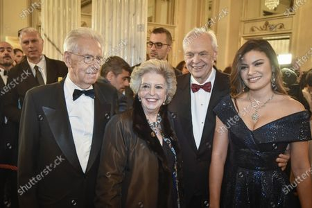 Mario Monti, Elsa Antonioli, Alexander Pereira and Daniela Weisser de Sosa