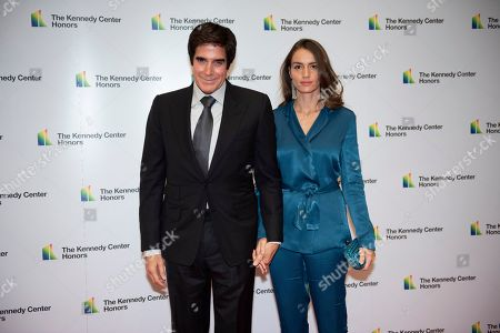 David Copperfield, Chloe Gosselin. David Copperfield, left, and Chloe Gosselin arrive at the State Department for the Kennedy Center Honors State Department Dinner, in Washington