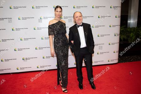 Stock Picture of Lars Ulrich, Jessica Miller. Metallica drummer Lars Ulrich and his wife, Jessica Miller, arrive at the State Department for the Kennedy Center Honors State Department Dinner, in Washington