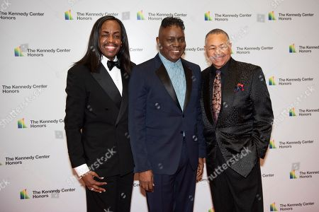 Verdine White, Ralph Johnson, Philip Bailey. 2019 Kennedy Center Honorees Earth, Wind & Fire members, from left, bassist Verdine White, singer Philip Bailey and percussionist Ralph Johnson arrive at the State Department for the Kennedy Center Honors State Department Dinner, in Washington