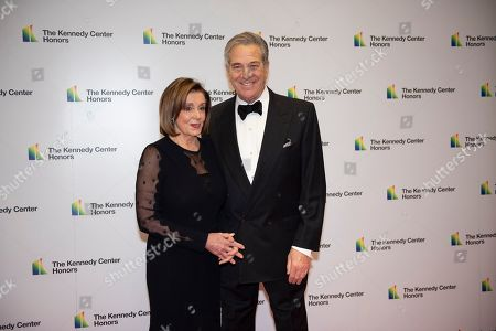 Nancy Pelosi, Paul Pelosi. Speaker of the House Nancy Pelosi, D-Calif., and her husband, Paul Pelosi, arrive at the State Department for the Kennedy Center Honors State Department Dinner, in Washington