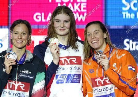 Federica Pellegrini (ITA), Freya Anderson (GBR) and Femke Heemskerk (NED) on 200 meter freestyle